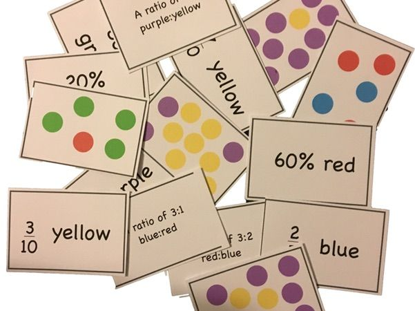 Ratio and Proportion Matching Cards Set 1