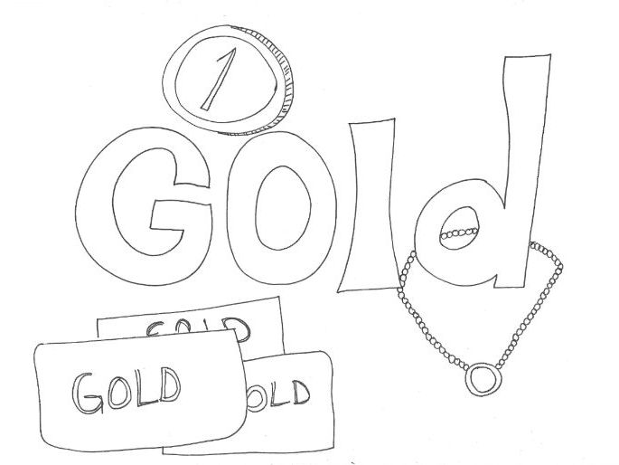 Gold: Colours: Colouring Sheet