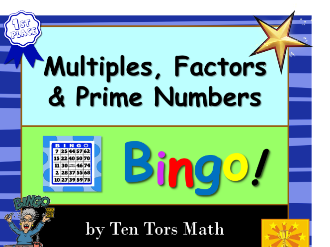 Multiples, Factors and Prime Numbers