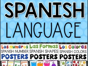 SPANISH Language Posters Bundle - Shapes Colors Numbers