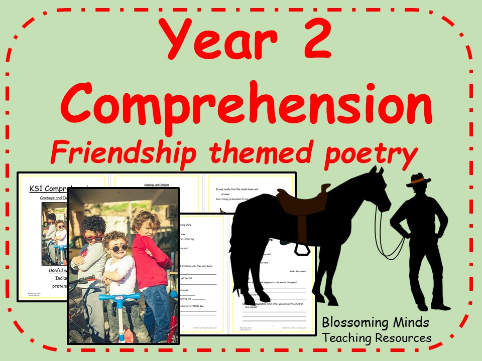 Year 2 poetry comprehension - Friendship theme