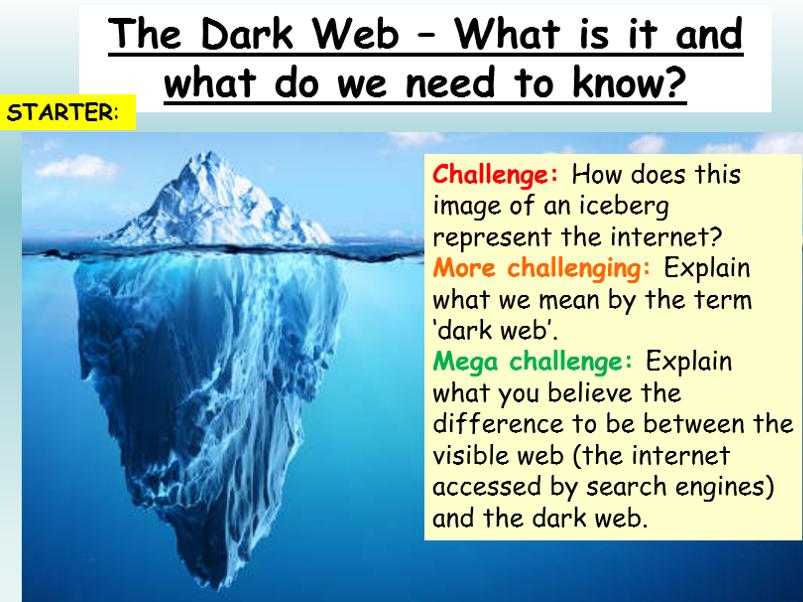 Internet + Online Safety - The Dark Web
