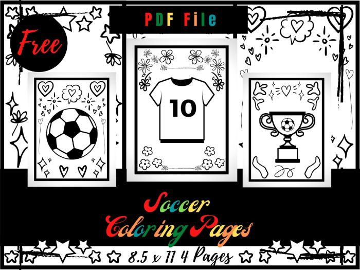 FREE Soccer Colouring Pages For kids, Football Colouring Sheets PDF, Free Sport Printable