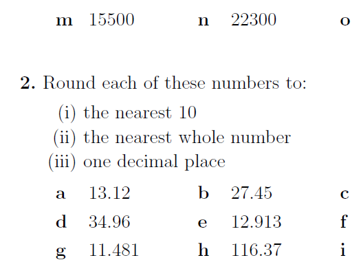 Rounding numbers worksheets (with answers)