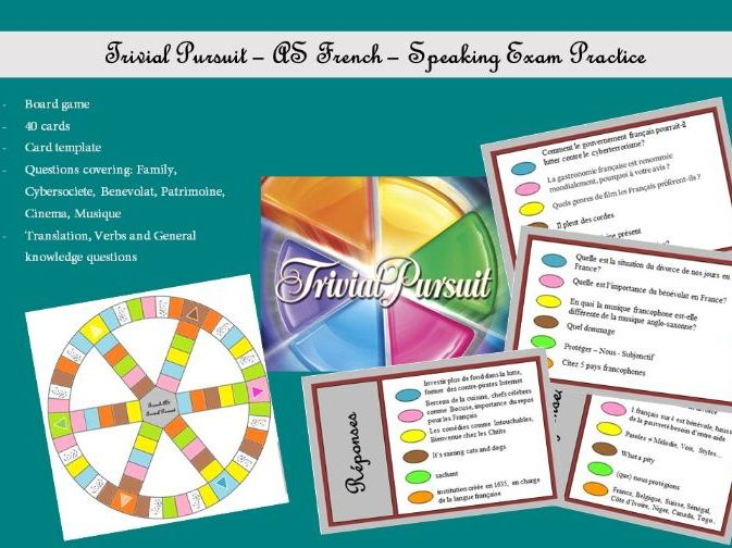 French AS - Speaking - Trivial Pursuit