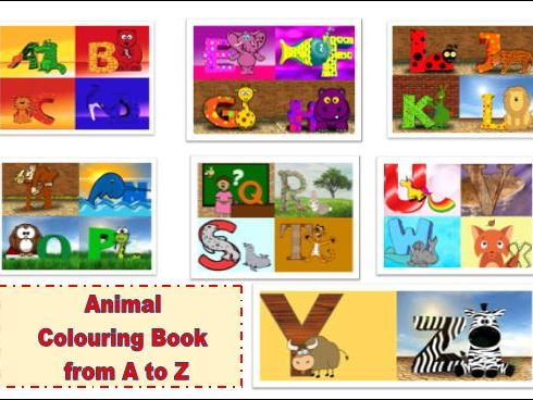Animals Colouring Book from A to Z