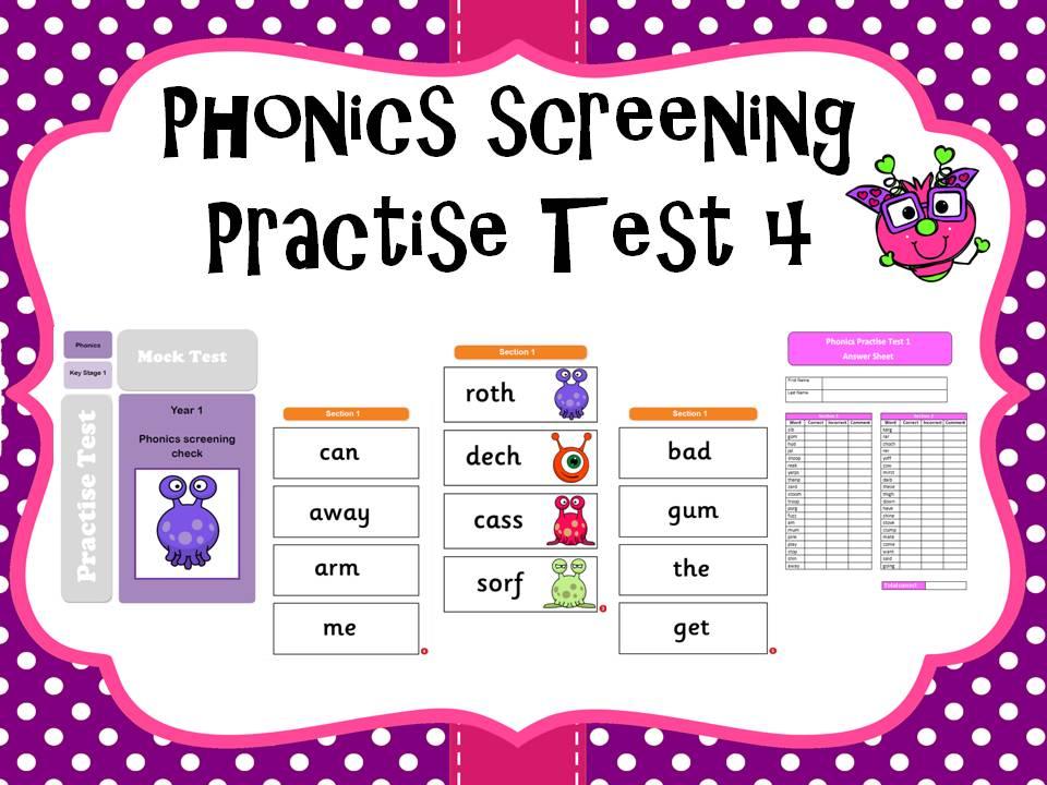 Phonics screening practise test 4