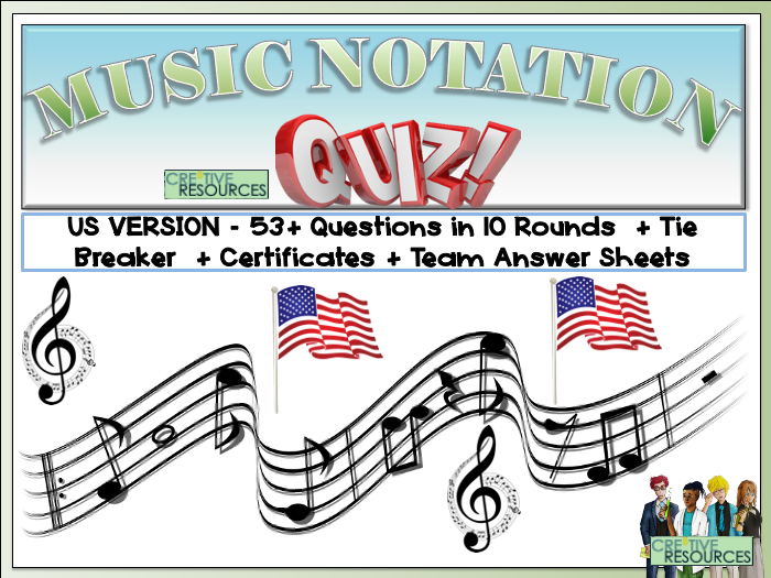 Musical Notation - US Version