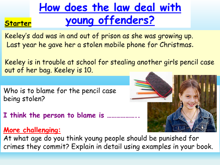 Criminal Responsibility, Law + Young Offenders