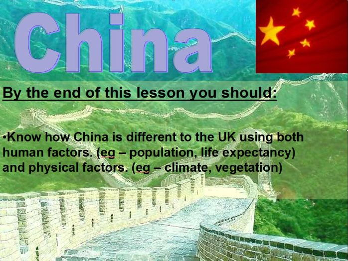 China 3 - Comparing China and UK