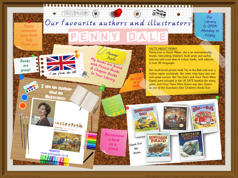 Library Poster- Penny Dale Author/Illustrator Of Picture & Chapter Books