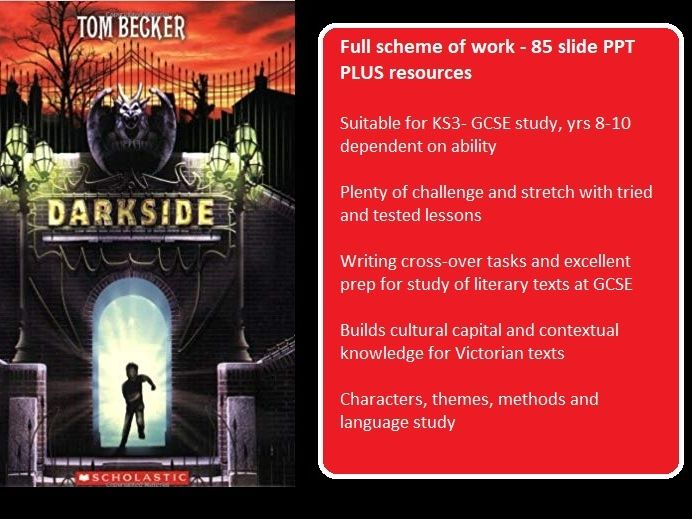Darkside (Becker) full scheme of work - 85 slide PPT PLUS resources - fiction
