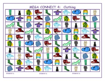 Clothing Mega Connect 4 game