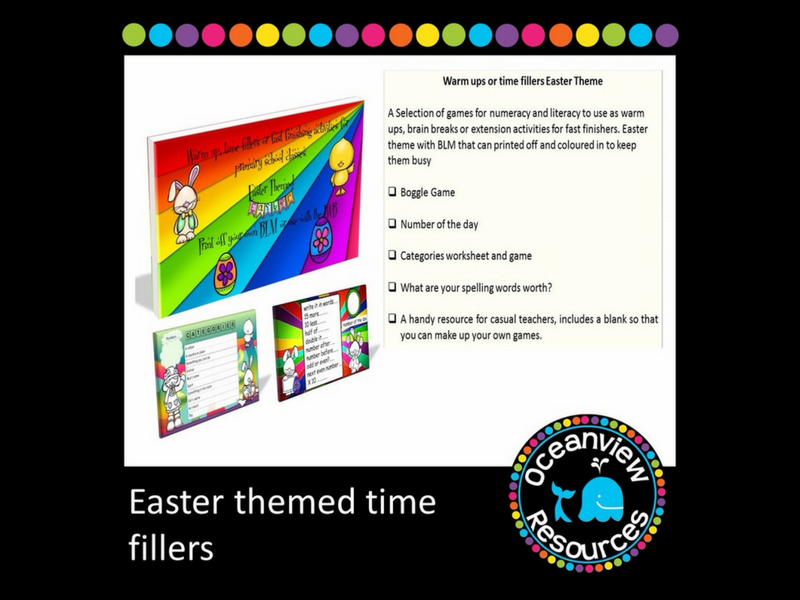 Easter Themed Brain Breaks, Time fillers or Extension Activities