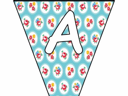 Printable bunting display bulletin letters numbers and more: Roses