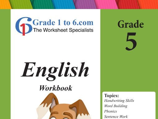 Grade 5 English Workbook/ Worksheet bundles from www.Grade1to6.com Books