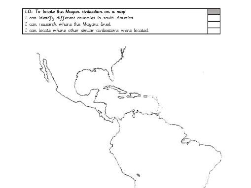 Mayan Mapping South/ North American countries