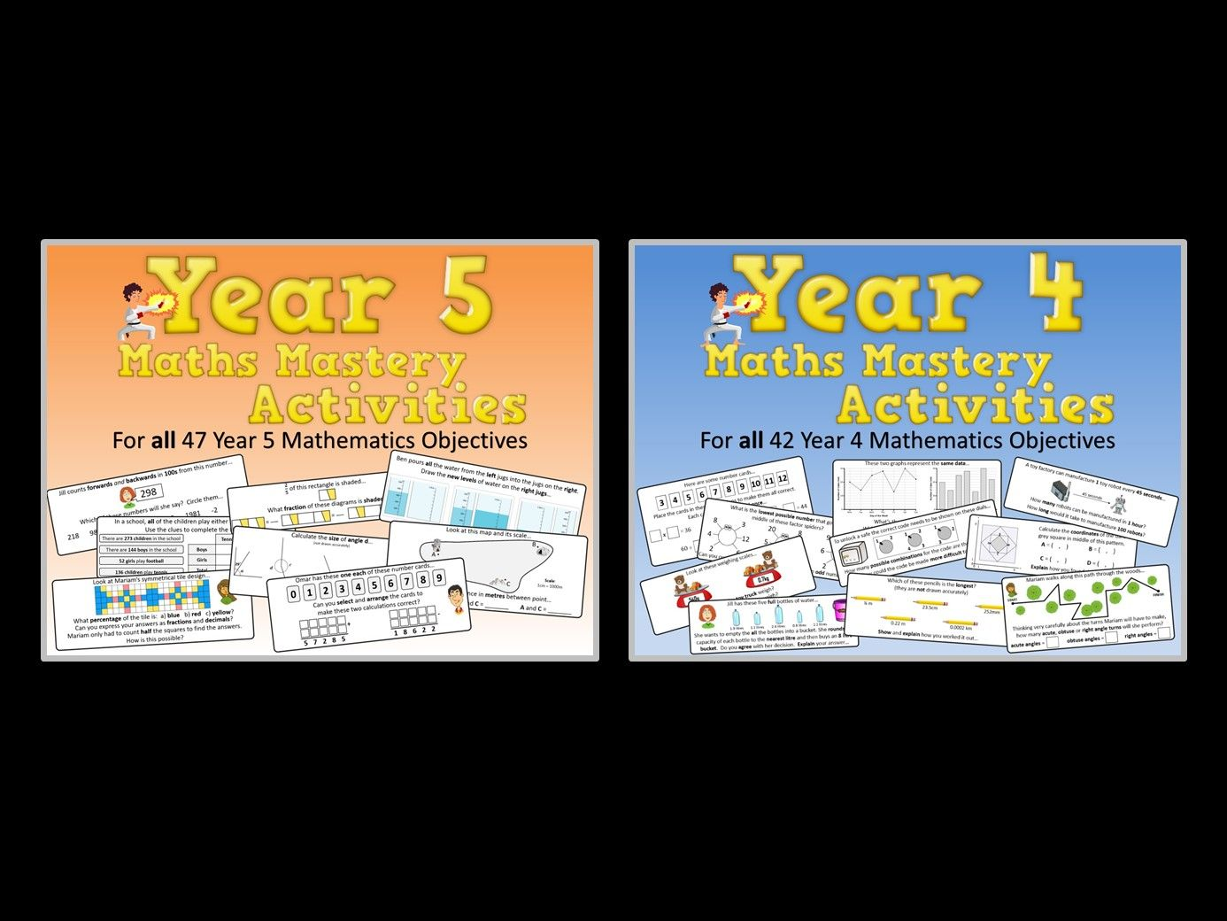 Year 4 AND Year 5 Maths Mastery Pack