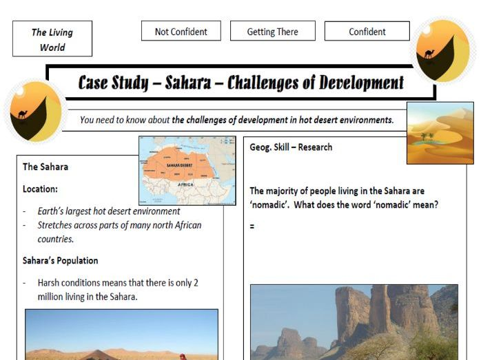 Hot Desert Summary Sheets - Opportunities and Challenges in the Sahara