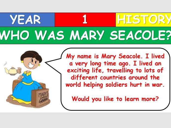 KS1 History - Mary Seacole Lesson