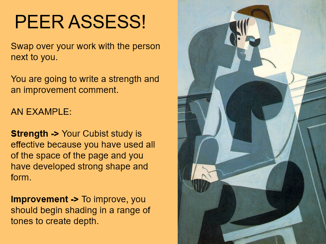 Cubism Lesson and Homework