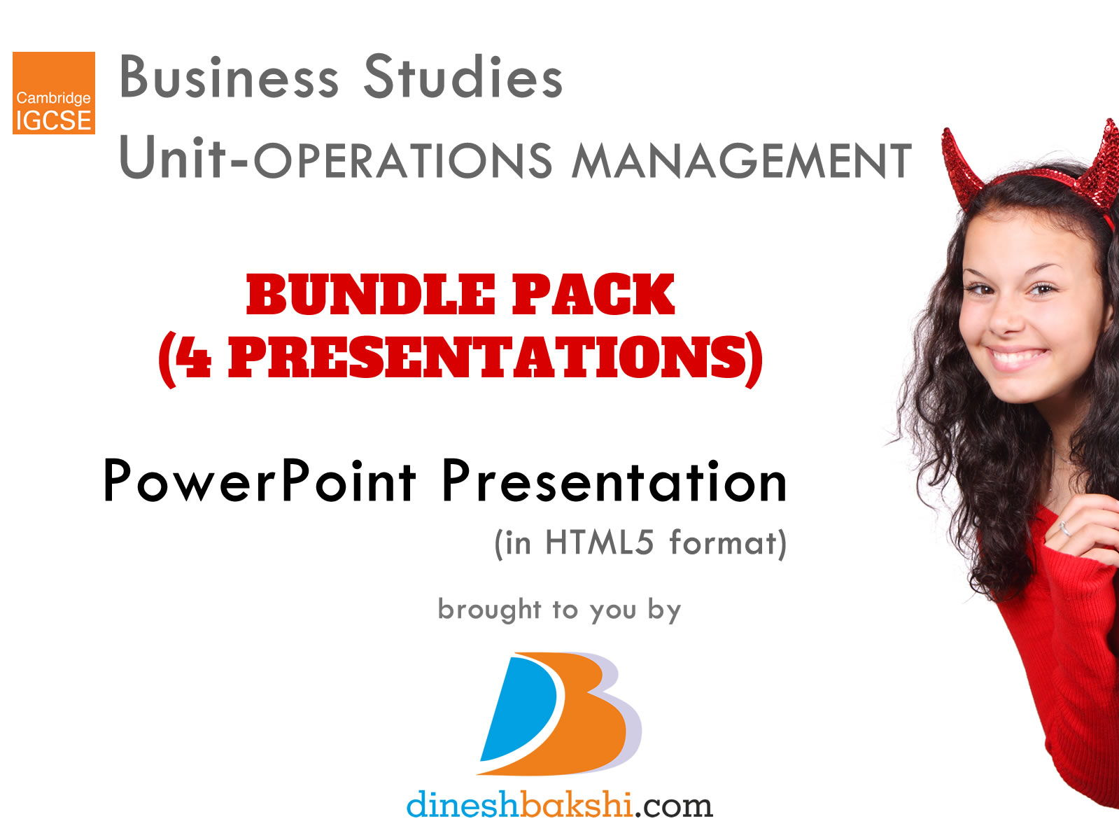 BUNDLE PACK - Operations Management Unit - IGCSE Business Studies