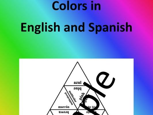 Colors in English and Spanish – Puzzle