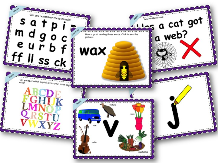 Phonics Powerpoint, Phase 3, Week 1 (j,v,w,x)