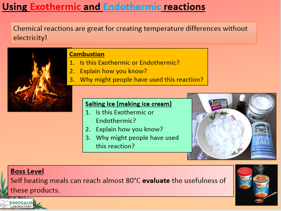 KS4 C7.1 Exothermic and Endothermic