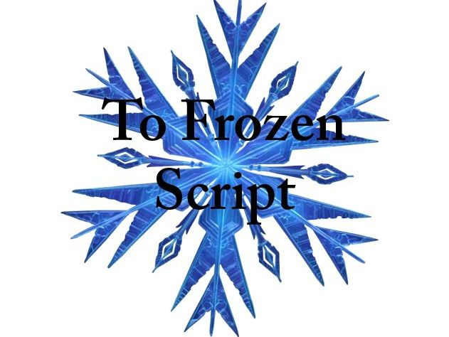 To Frozen - A pantomime for staff to perform to students