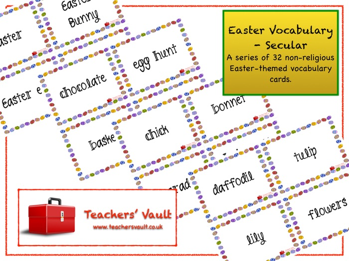 Easter Vocabulary - Secular