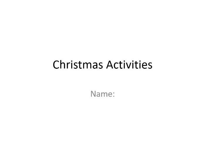 14 Simple Christmas ICT Activities