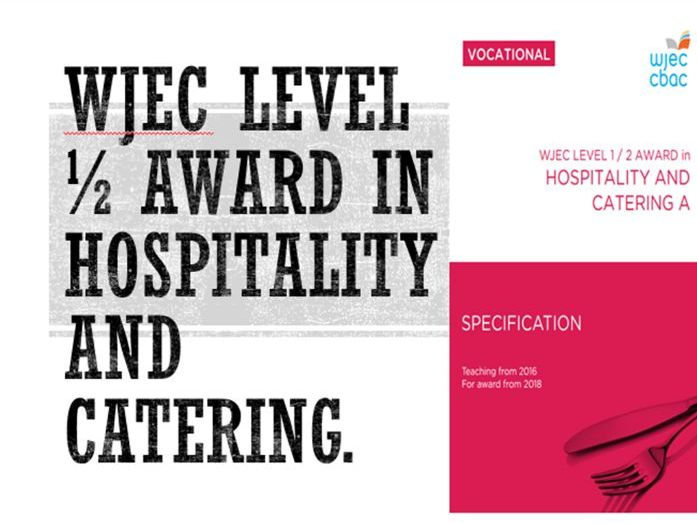 WJEC Hospitality & Catering Lv1/2. Unit 1 LO2
