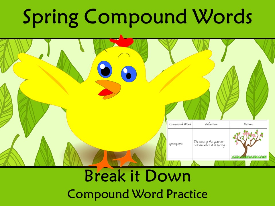 Compound Words Worksheet Spring Themed