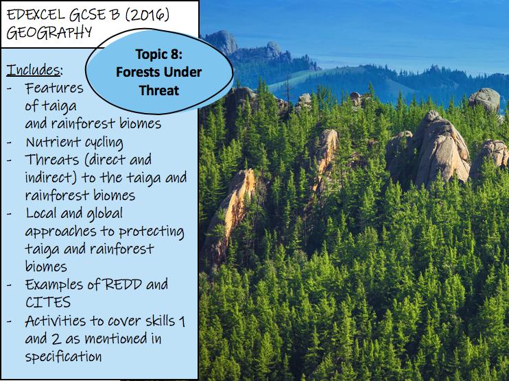 Forests Under Threat - Edexcel GCSE Geography B