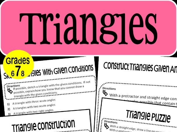 Triangles Math  Stations