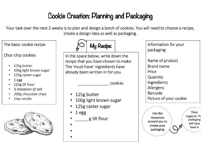 """Food & Nutrition """"Cookie Creation"""" Project"""