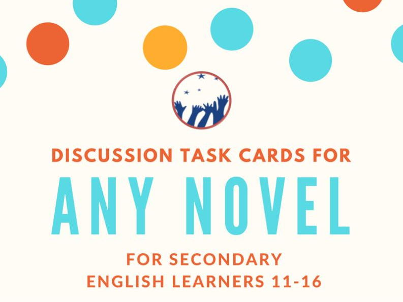 Discussion Task Cards for ANY Novel - PDF VERSION