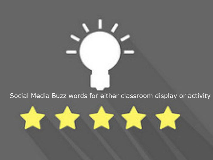 Display these Social Media Buzz words 28 items (editable)