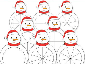 Snowman Spinners, Christmas Spinners, Math Clip Art, Math Clipart