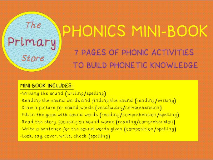 AY PHONICS SOUND MINI-BOOK