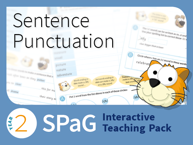 Year 2 SPaG Interactive Teaching Pack - Sentence punctuation