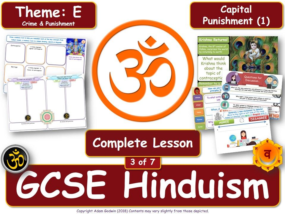 Capital Punishment - Hindu Views (GCSE RS - Hinduism - Crime & Punishment) [Death Penalty] L3/7