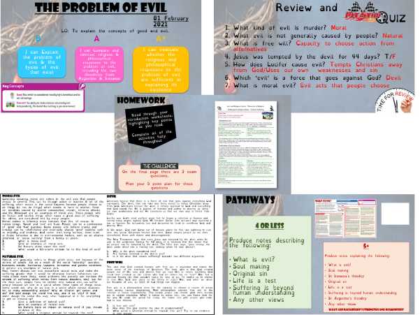 A Level. OCR. The Problem of Evil. LESSON 1. Introduction