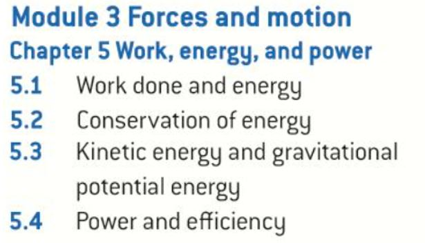 OCR AS level Physics: Work, Energy and Power