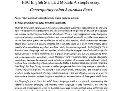 HSC Standard English Module A Sample Essay & Analysis: Asian Australian Poets