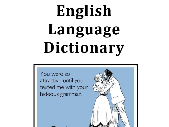 A Level English Language Dictionary