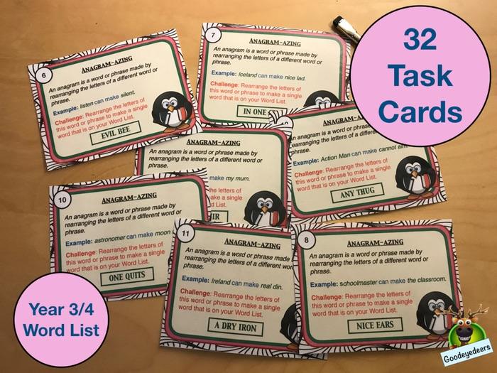 Spelling Cards - Years 3/4 Word List (Set 1)