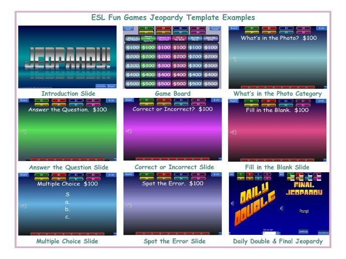 Jeopardy English Powerpoint Game Template