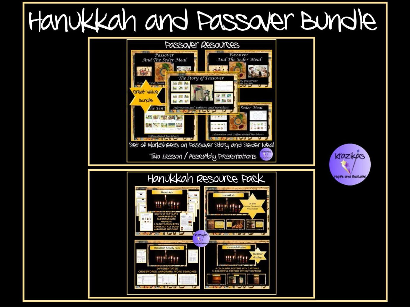 Passover and Hanukkah: Bundle 9 Resources